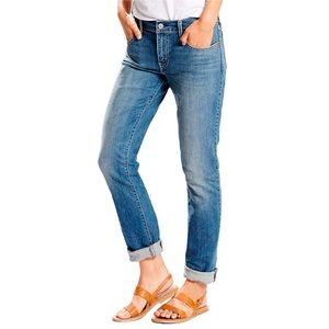 Levi's 414 relaxed fit blue jeans